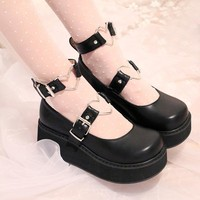 Summer New Japanese Lolita Black White Pink Shoes Sneakers Love Sweet Princess Cust Student Cosplay Nude Pantshoes Free Shipping