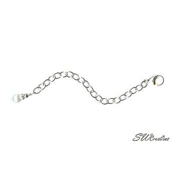 Oyster's Pearl Silver Jewelry Necklace Extender