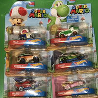 Hot Wheels Cars Entertainment Mario Bros Cars Set of 6 Cars