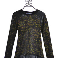 Flowers by Zoe Trendy Tween Sparkle Sweater in Black