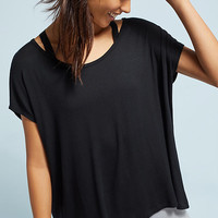 Lace-Up Back Tee