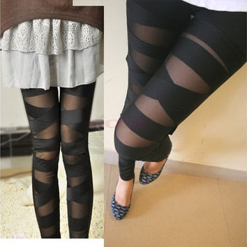 Stretch Vintage Tights Leggings [6259200132]