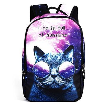 Cool Backpack school Cool Children 3D Animal Felt Backpack Men's Backpack Crazy Cat Dog Printing Bag for School Girls College Student Bagpack Mochila AT_52_3