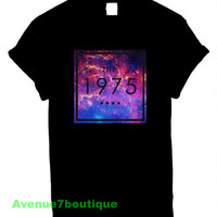 The 1975 Band Shirt The Galaxy Printed on Black Marron and White t-Shirt For Men or Women The 1975 Band Tshirt 5sos arctic monkeys 1D
