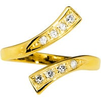 10k Yellow Gold Cubic Zirconia Classic Toe Ring | Body Candy Body Jewelry