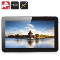 10.1 Inch Quad Core Tablet - A33 CPU, 1GB RAM, 16GB Memory, Android 4.4,  Micro SD Slot, 5000mAh Battery (Black)