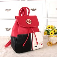 """""""Tommy Hilfiger"""" Personality Casual Fashion Multicolor Backpack Women Double Shoulder Bag"""