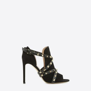 Studwrap open-toe ankle boot for Woman | Valentino Online Boutique