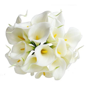 Artificial Bouquet Delicate Calla Lily Fake Silk Flowers Wedding Home Decor Free Shipping