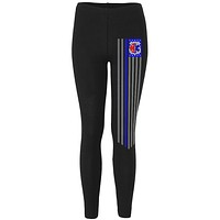 EMS EMT Firefighter Thin Blue Lives Line Flag Womens Leggings