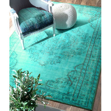 Bungalow Rose Xavier Machine Woven Turquoise Area Rug & Reviews | Wayfair