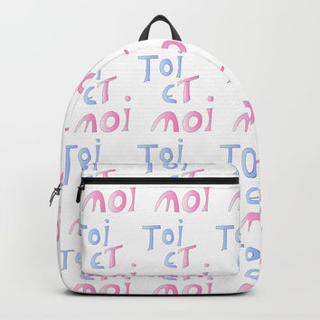 Toi et moi – Marriage, love, romantism,romantic,cute,beauty, tender, tenderness Backpack by oldking
