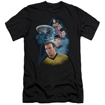 Star Trek - Among The Stars Premium Canvas Adult Slim Fit 30/1 Shirt Officially Licensed T-Shirt