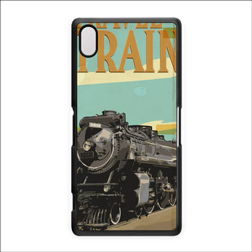 Travel By Train Hard Plastic Case for Sony Xperia Z2 by Nick Greenaway