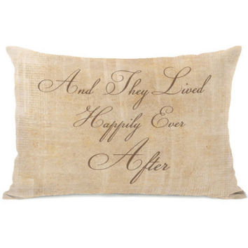 """""""Happily Ever After"""" Indoor Throw Pillow by OneBellaCasa, 14""""x20"""""""