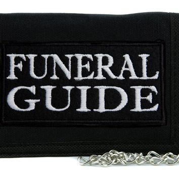 Funeral Guide Tri-fold Wallet with Chain Occult Horror Dead Undead