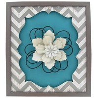 Turquoise, White & Gray Chevron Wall Plaque | Shop Hobby Lobby