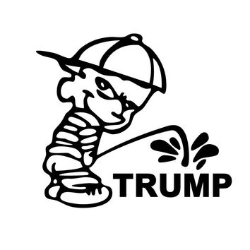 Funny DONALD Trump vinyl decal stickers USA presidential election Car Truck