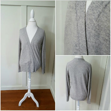 J.CREW LARGE GRAY WOOL SWEATER - PRE-OWNED