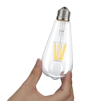 Kohree Vintage Edison LED Bulb, Dimmable 6W Antique LED Bulb Squirrel Cage Filament Light For Decorate Home E26 2700K Soft White
