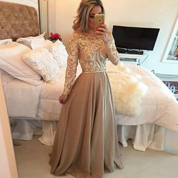 Off Shoulder Long Sleeve Lace Party Dress