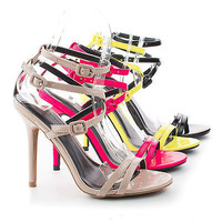 Adele163 By Wild Diva, Strappy Ankle Wrap Multi Buckle Stiletto Dress High Heel Sandals