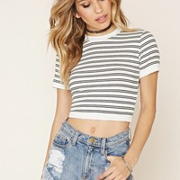 Pinstripe Ribbed Top