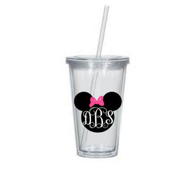 Custom Personalized Minnie Mouse Tumbler,Minnie,Mouse Birthday Gift,Minnie Mouse Cup,Disney World,Disney Trip,Minnie Mouse Gift,Minnie Mouse