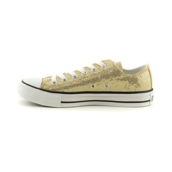 Converse All Star Lo Glitter Sneaker, Gold, at Journeys Shoes