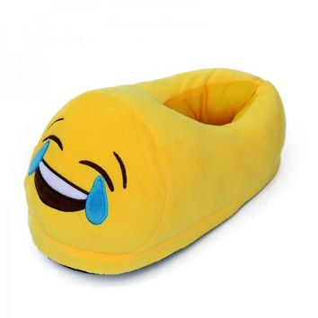 Fashion Emoji  Plush Stuffed Unisex Cartoon Home Indoor Slipper