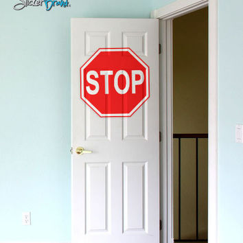 Vinyl Wall Art Decal Sticker Street Stop Sign #155