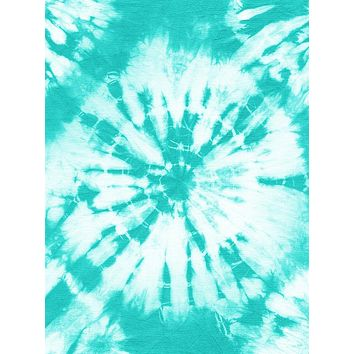 Turquoise and White Circle Tie Dye Pattern Printed Backdrop - 15182