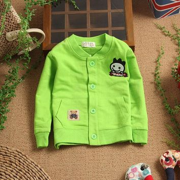 Small children's clothing 0 - 2 years old baby autumn baby shirt male female child long-sleeve shirt 100% cotton clothes