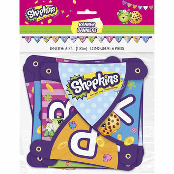 Shopkins Jointed Party Banner