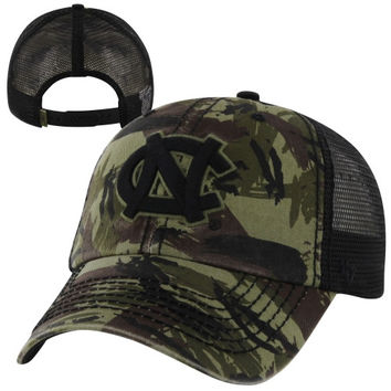 47 Brand North Carolina Tar Heels :UNC: NCAA Artillery Adjustable Hat - Camo/Black