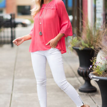 Always A Beauty Blouse, Coral