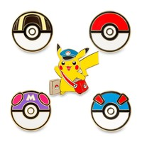 Special Delivery Pikachu and Poké Balls Pokémon Pins Starter Kit (Includes Lanyard)