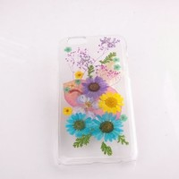 Real Dried Flower and Leafs for iPhone 5 Case Daisy flowers