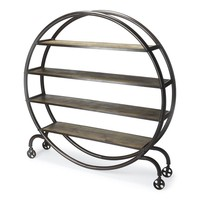 Orion Industrial Chic Display Bookcase