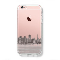 Urban San Francisco Skyline iPhone 6s Clear Case iPhone 6 Cover iPhone 5S 5 5C Hard Transparent Case C017