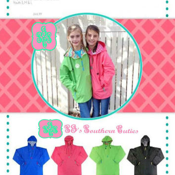 Monogrammed YOUTH Rain Jacket , Rain Jacket with FREE Monogramming