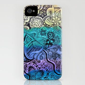 Watercolor Doodle iPhone Case by Kayla Gordon | Society6