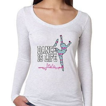 Dance Is Life Aztec Women's Long Sleeve Shirt