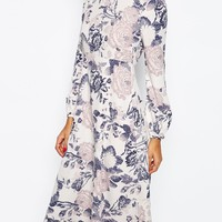 ASOS Printed Midi Column Dress in Wallpaper Print