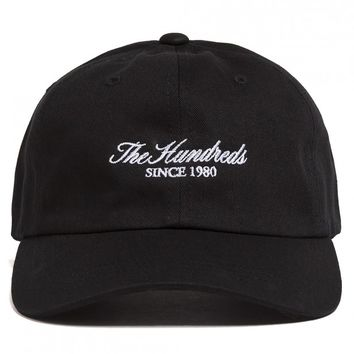 SHOP THE HUNDREDS | Script strap-back cap