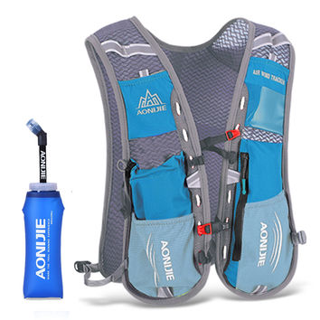 AONIJIE Men Women Running Backpack Outdoor Sports Trail Racing Marathon Hiking Fitness Bag Hydration Vest Pack 600ml Kettle