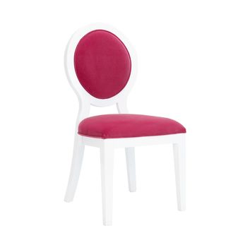 Worlds Away White/Hot Pink Overton Lacquer Chair