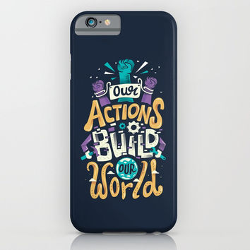 Build Our World iPhone & iPod Case by Risa Rodil