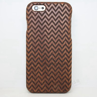 Chevron Wood Case Solid wood Retro Wooden New Cover Carving flower Patterns Wood Slice Plastic Edges Back Cover for Iphone 6 case iPhone 6 Plus