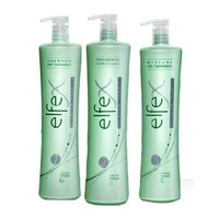 BRAZILIAN KERATIN  ELFEX HAIR TREATMENT 3 STEPS DECANTED FRACTION SAMPLE KIT KIT 4.1oz (120ml).